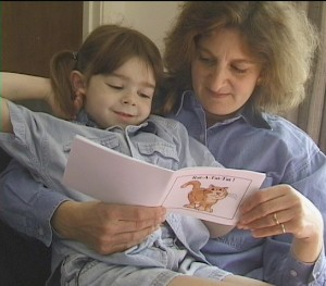 Avery & Mom reading